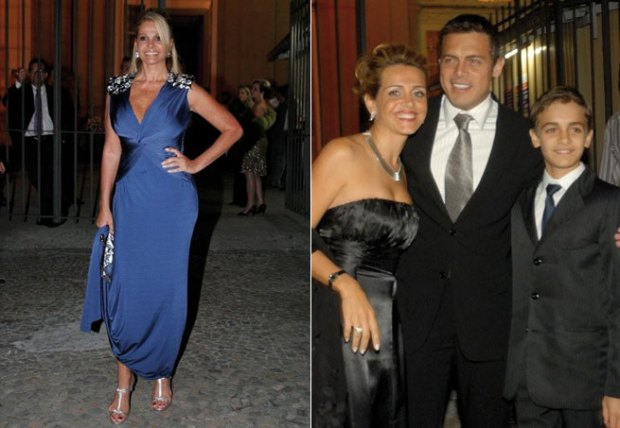 """""""Titia"""" Monique Evans, Luigi Baricelli aparece com a família"""