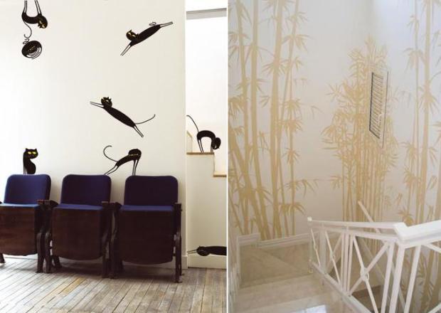 Macacos e Bambu na escada