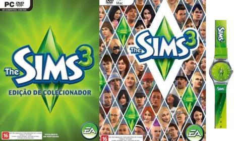 THE SIMS 3 edição de colecionador e o meu, esse relógio não vem no meu The Sims