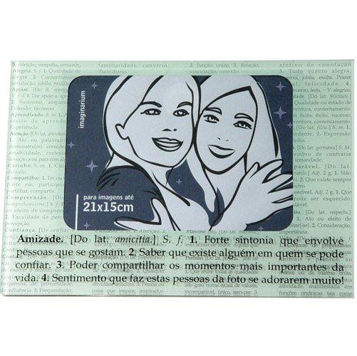 Porta-Retrato Significados Amizade p/ Foto 18x21cm - Imaginarium, R$62,90